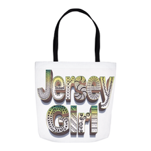 Jersey Girl Tote Bags - Zentangle art hand drawn by ZenJoanie