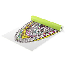 "Zentangle Art Yoga Mat - ""RoundAbout"" hand drawn and Colored by ZenJoanie Yoga mat"