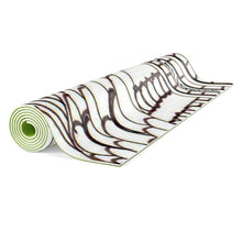 "Zentangle Art Yoga Mat - ""Tubes"" hand drawn by ZenJoanie Yoga mat"