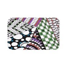 "Zentangle Bath Mat - ""Angles"" Tangle Art hand drawn by ZenJoanie - Bath Mat for Home Decor - ZenJoanie Bath Mat"