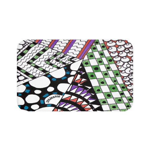 Zentangle Bath Mat -