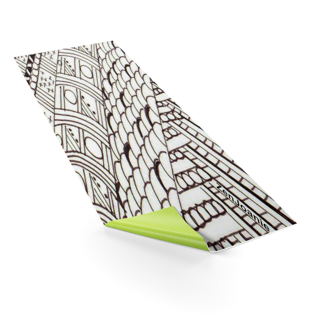 Zentangle Art Yoga Mat -