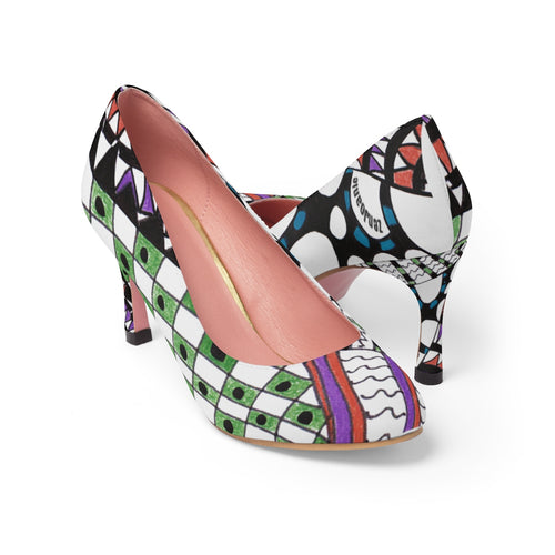 Zentangle Art High Heels -