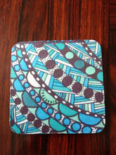 "Zentangle Coasters - Fun Drinking Coasters - Set of Artistic Coasters hand drawn by ZenJoanie - ""Connect the Dots"" for Home Decor"