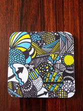 "Zentangle Coasters - Fun Drinking Coasters - Set of Artistic Coasters hand drawn by ZenJoanie - ""Illumination"" for Home Decor"