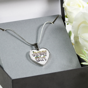 Jersey Girl Heart Necklace - Jersey Girl Heart Bangle Bracelet - hand drawn by ZenJoanie