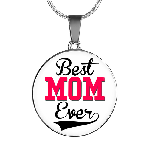 Best MOM Ever Charm Necklace - Silver or Gold Pendant Bracelet for Mom - Great Mothers Day Gift - made by Paul