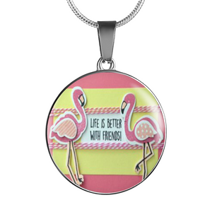 Flamingo Bracelet - Friend Charm Necklace or Bracelet - Made by Paul