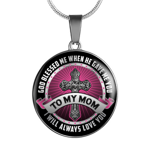 TO MY MOM Charm Necklace - Silver or Gold Pendant Bracelet for Mom - Great Mothers Day Gift - by Paul