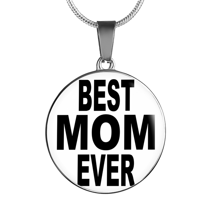 Best Mom Ever Necklace - Charm Bracelet for Mothers Day - Great Gift for Mom- mad by Paul