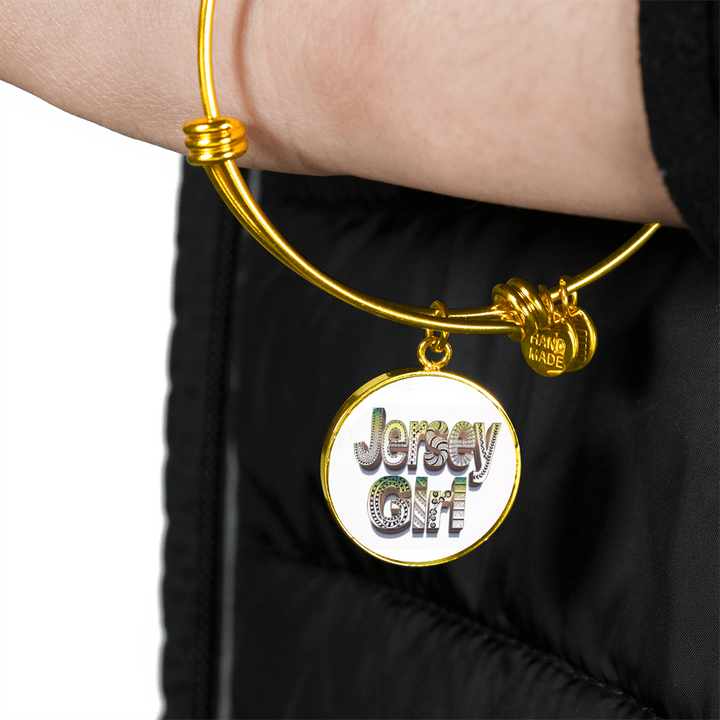 Jersey Girl Necklace - Jersey Girl Bangle Bracelet - hand drawn by ZenJoanie