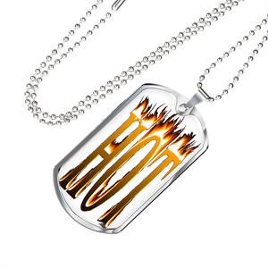 Hot Luxury Dog Tag Necklace for Men or Women - Digital Art by Paul