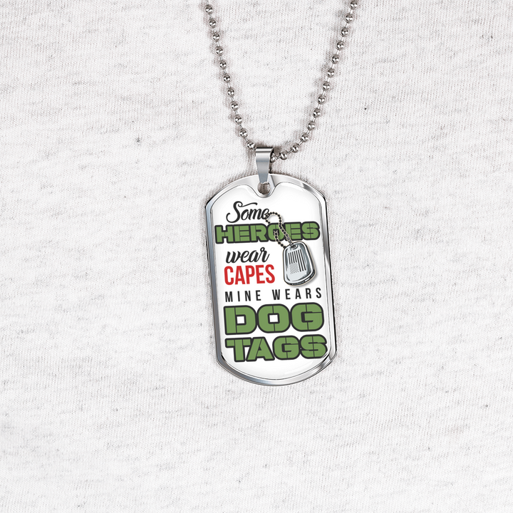 bda866d472cd Heroes Dog Tag Necklace - Luxury Dog Tag Necklace for Men or Women ...