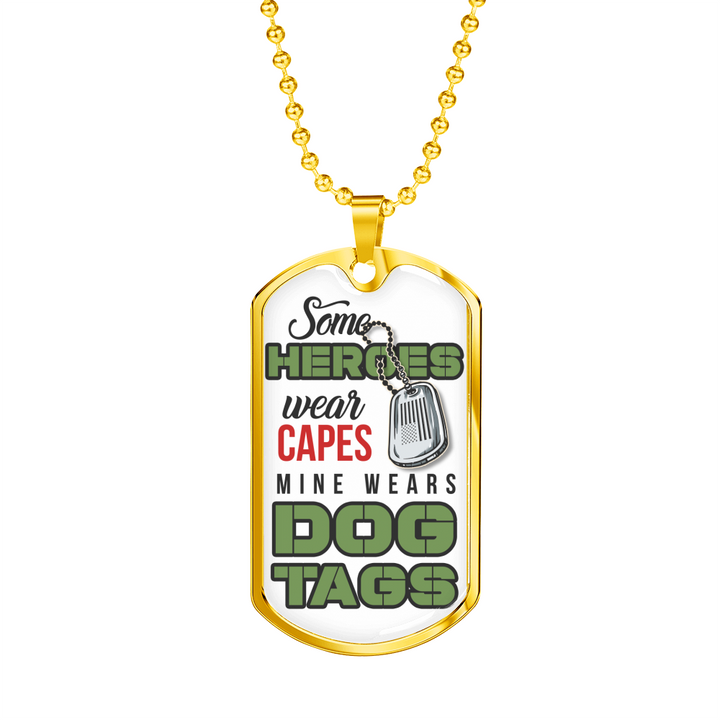 Heroes Dog Tag Necklace - Luxury Dog Tag Necklace for Men or Women - made by Paul