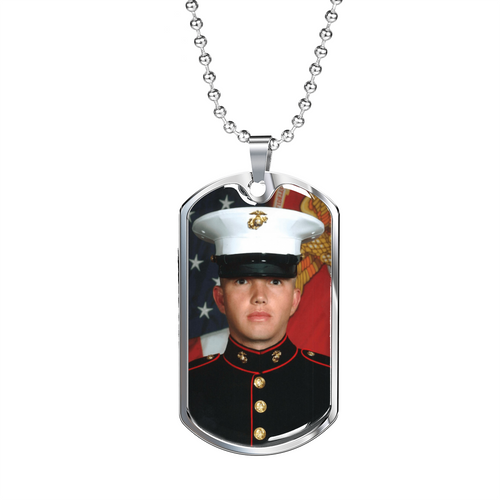 Make Your Own Photo Necklace - Photo Jewelry - Personalized Military Dog Tag Custom Made - Your Picture Your Words