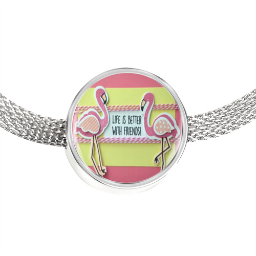 Flamingo Bracelet - Friend Charm Bracelet - Made by Paul