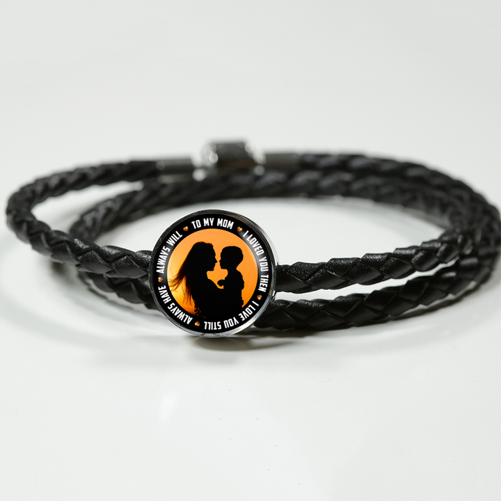 TO MY MOM Bracelet - Leather Charm Bracelet for Mothers Day - Great Gift for Mom- by Paul