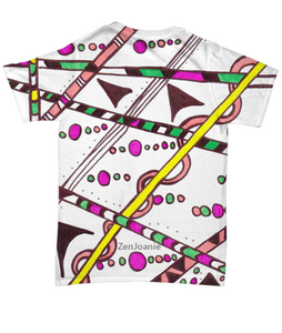 "Colored Tangle Art T Shirt hand drawn by Zenjoanie - ""Which Way"""