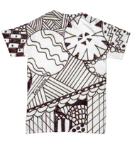 "B/W Tangle Art T Shirt hand drawn by Zenjoanie - ""Circular"""