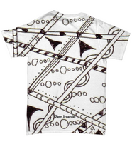 "B/W Tangle Art T Shirt hand drawn by Zenjoanie - ""Which Way"""