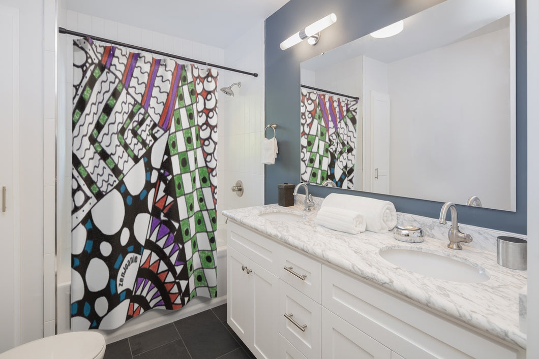 Zentangle Shower Curtains -