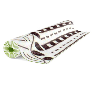 "Zentangle Art Yoga Mat - ""Tracks"" hand drawn by ZenJoanie Yoga mat"