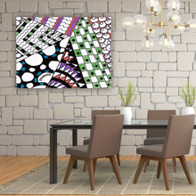 "Zentangle Canvas Print hand drawn and colored by ZenJoanie called ""Angles"" Canvas Wall Art makes great Zentangle Stuff Gifts for Home Decor"