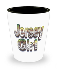 Jersey Girl Shot Glass - Jersey Girl Shot Glasses - hand drawn by ZenJoanie