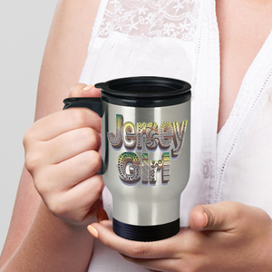 Jersey Girl Mug - Jersey Girl Travel Mug - hand drawn by ZenJoanie