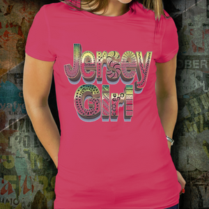 Jersey Girl T Shirt - Jersey Girl Tank Top - Jersey Girl Hoodie - hand drawn by ZenJoanie