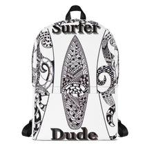 Surfer Dude Backpack hand drawn by ZenJoanie