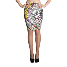"Zentangle Art Skirt - ""RoundAbout"" hand drawn and colored by ZenJoanie - Women's Pencil Skirt - ZenJoanie Skirt"