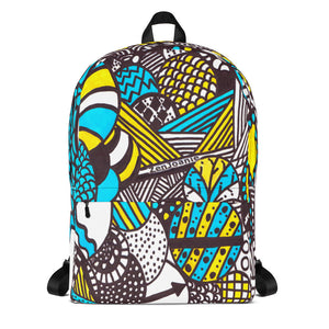 "Zentangle Art Backpack - ""Illumination"" hand drawn and colored by ZenJoanie"