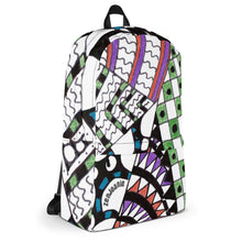 "Zentangle Art Backpack - ""Angles"" hand drawn and colored by ZenJoanie"