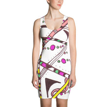 "Zentangle Dress - ""Which Way"" hand drawn and colored by ZenJoanie - Sublimation Cut & Sew Dress - ZenJoanie Dress"