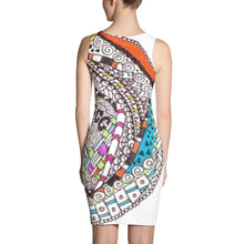 "Zentangle Dress - ""RoundAbout"" hand drawn and colored by ZenJoanie - Sublimation Cut & Sew Dress - ZenJoanie Dress"