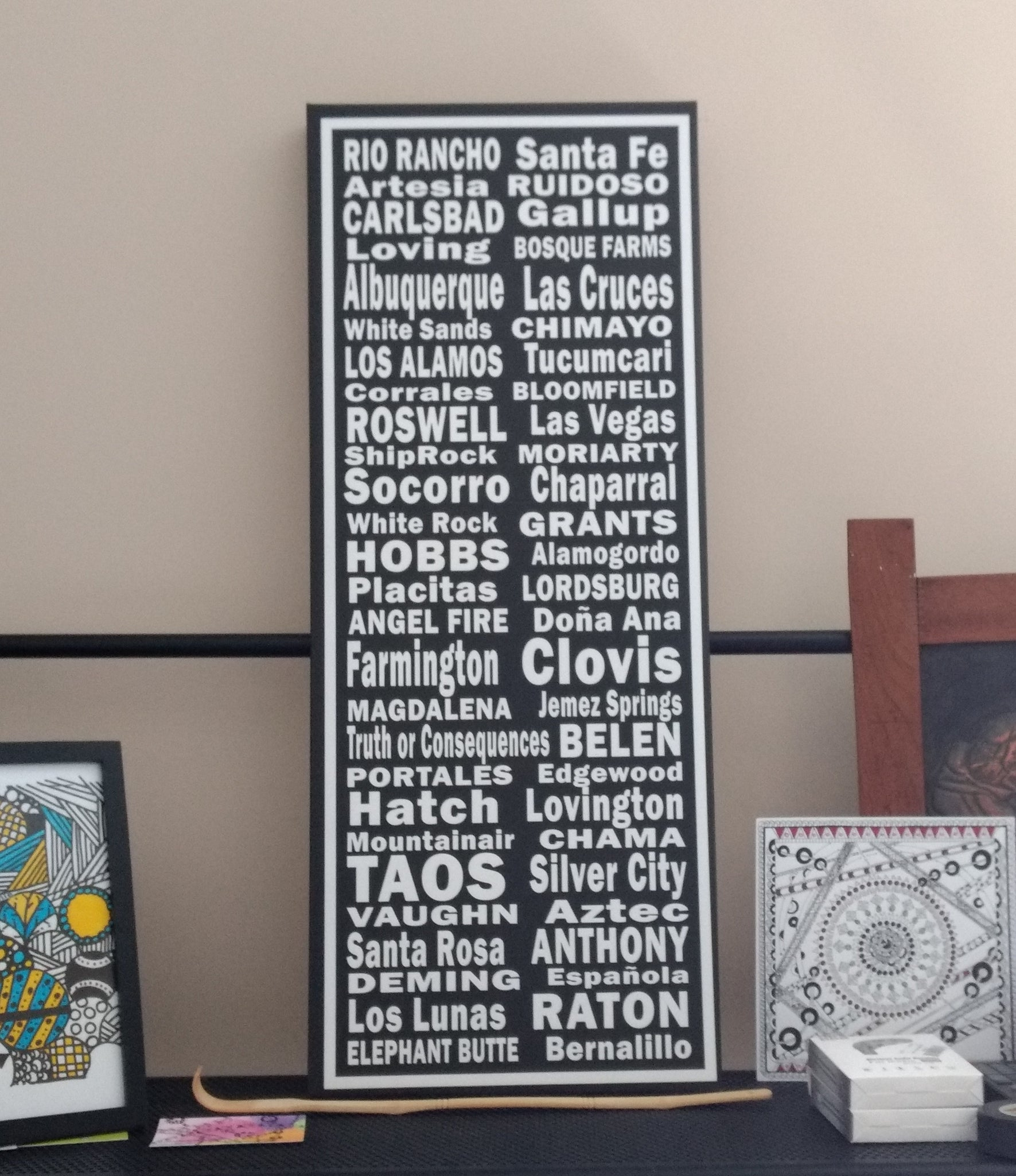 New Mexico Towns Canvas Art Print - Canvas Wall Art that Makes a Statement