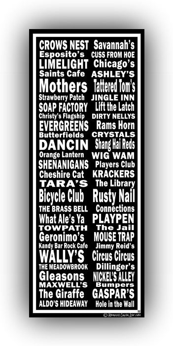 New Jersey Night Clubs Canvas Art Print - Canvas Wall Art that Makes a Statement
