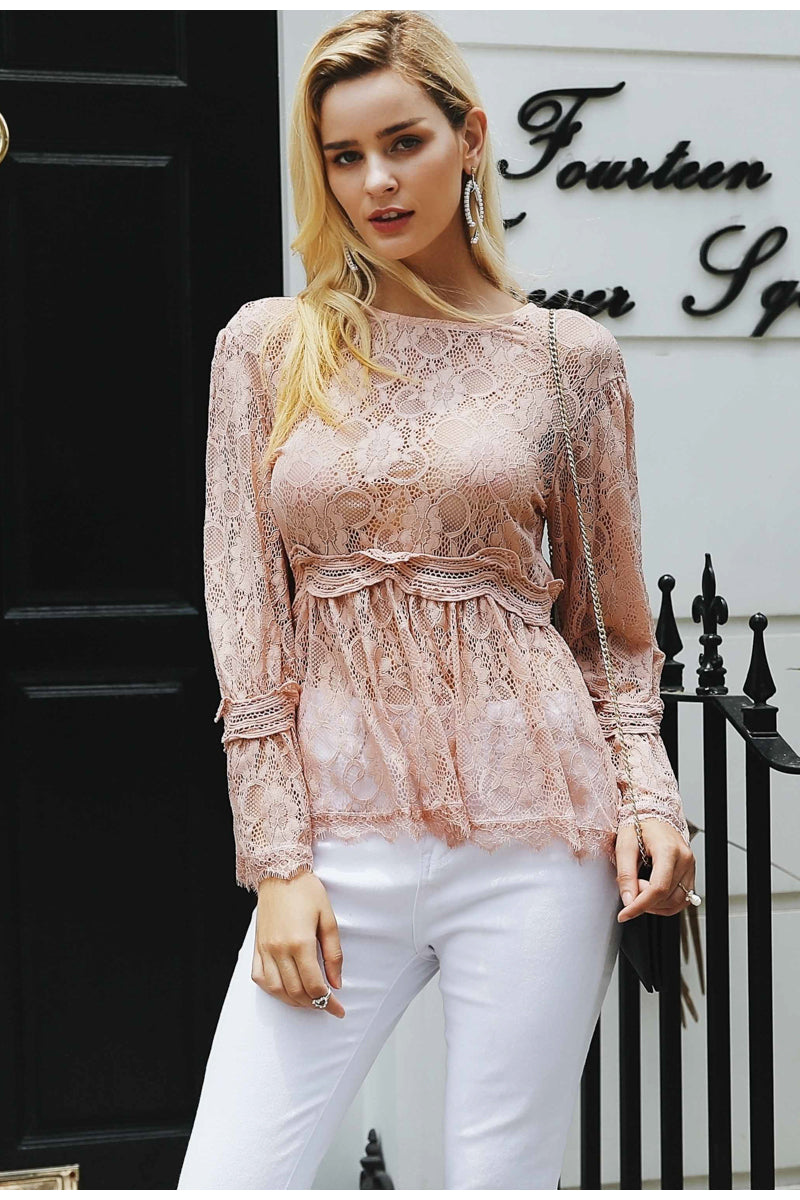 JGleam Lace Top