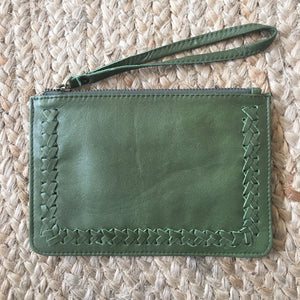 Stitched Mini Clutch - Olive