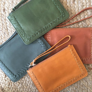 Stitched Mini Clutch - Pine