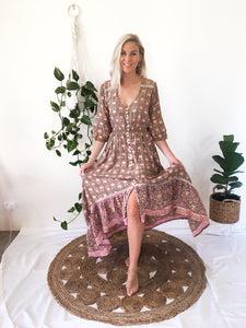 Summer Time Dress - Mocha