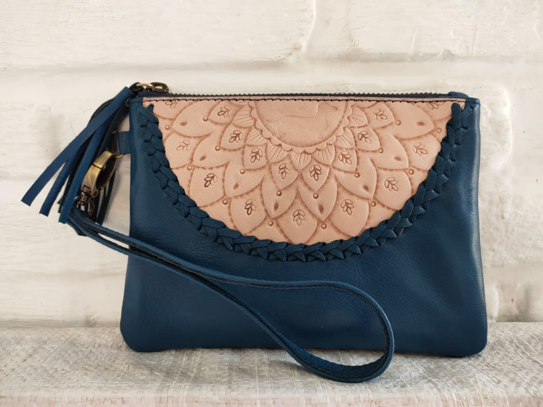 LD Mandala Mini Clutch - Navy