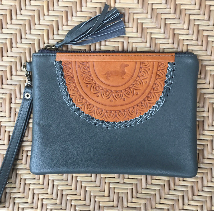LD Mandala Clutch - Charcoal