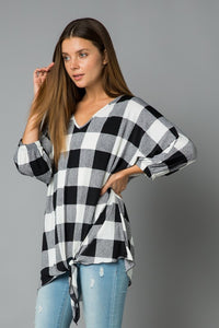 Buffalo Check V-neck