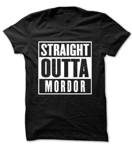 'Straight Outta Mordor' Black T-Shirt Lord of the Inspired T-Shirt