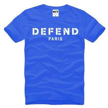 Load image into Gallery viewer, Men's Short Sleeve DEFEND PARIS Letter Printing Hip-hop
