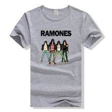 Load image into Gallery viewer, 2017 Fashion Men's Casual Summer T Shirts Ramones Rock Band Print Music Style Short Sleeve T-shirts Plus Size