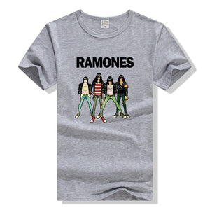 2017 Fashion Men's Casual Summer T Shirts Ramones Rock Band Print Music Style Short Sleeve T-shirts Plus Size