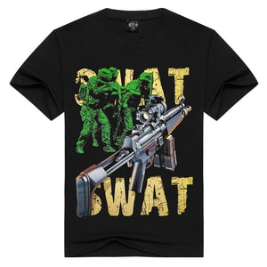 2017 Fashion Sreet Style Swat S.W.A.T. 3D Printed Top Quality T Shirts Short Sleeve Tees
